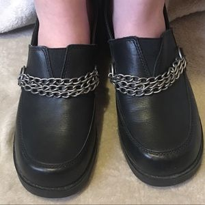 Harley Davidson leather slip on chain shoes 9